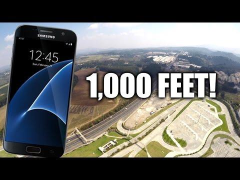 Watch a Galaxy S7 fall 1,000 feet from the air