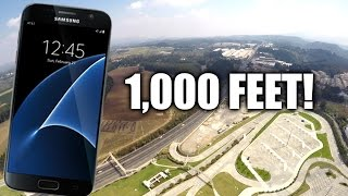 Samsung Galaxy S7 Drop Test FROM 1,000 FEET!(This is the ultimate extreme Drop Test for the Samsung Galaxy S7 from 1000 feet or 300 meters! Equipment used: - Camera: Canon 5D Mark 3, GoPro Hero 4 ..., 2016-03-19T19:59:25.000Z)