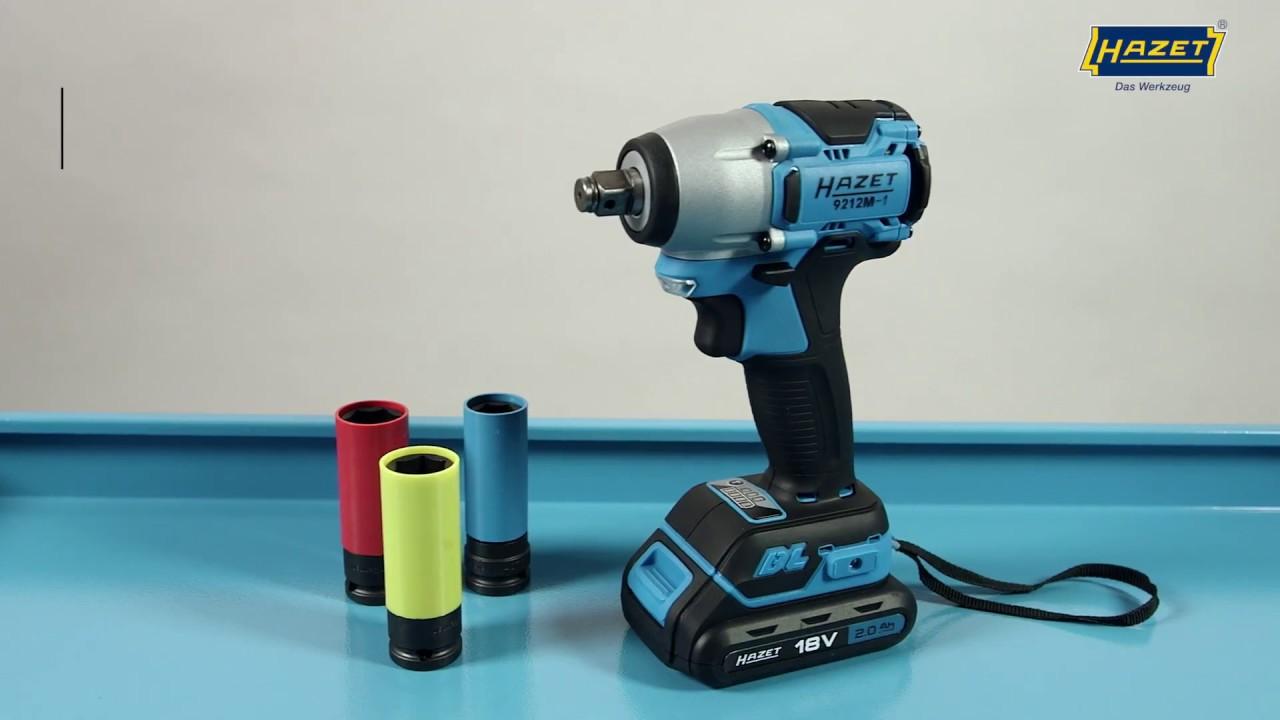 Hazet Mini Cordless Impact Wrench Set 18 V 9212 M 1