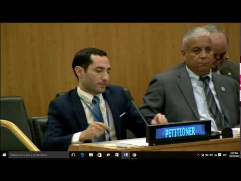 United Nations, Committee on Decolonization. Speech by Favio Ramirez-Caminatti