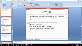 Java Programlamaya Giriş Ders 03 : Genel Syntax Bilgisi