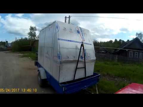 сани дом для зимней рыбалки - YouTube