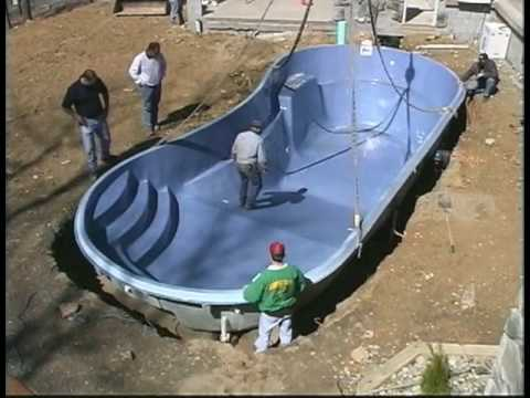 Viking pool installation part 2 youtube Fiberglass swimming pool installation