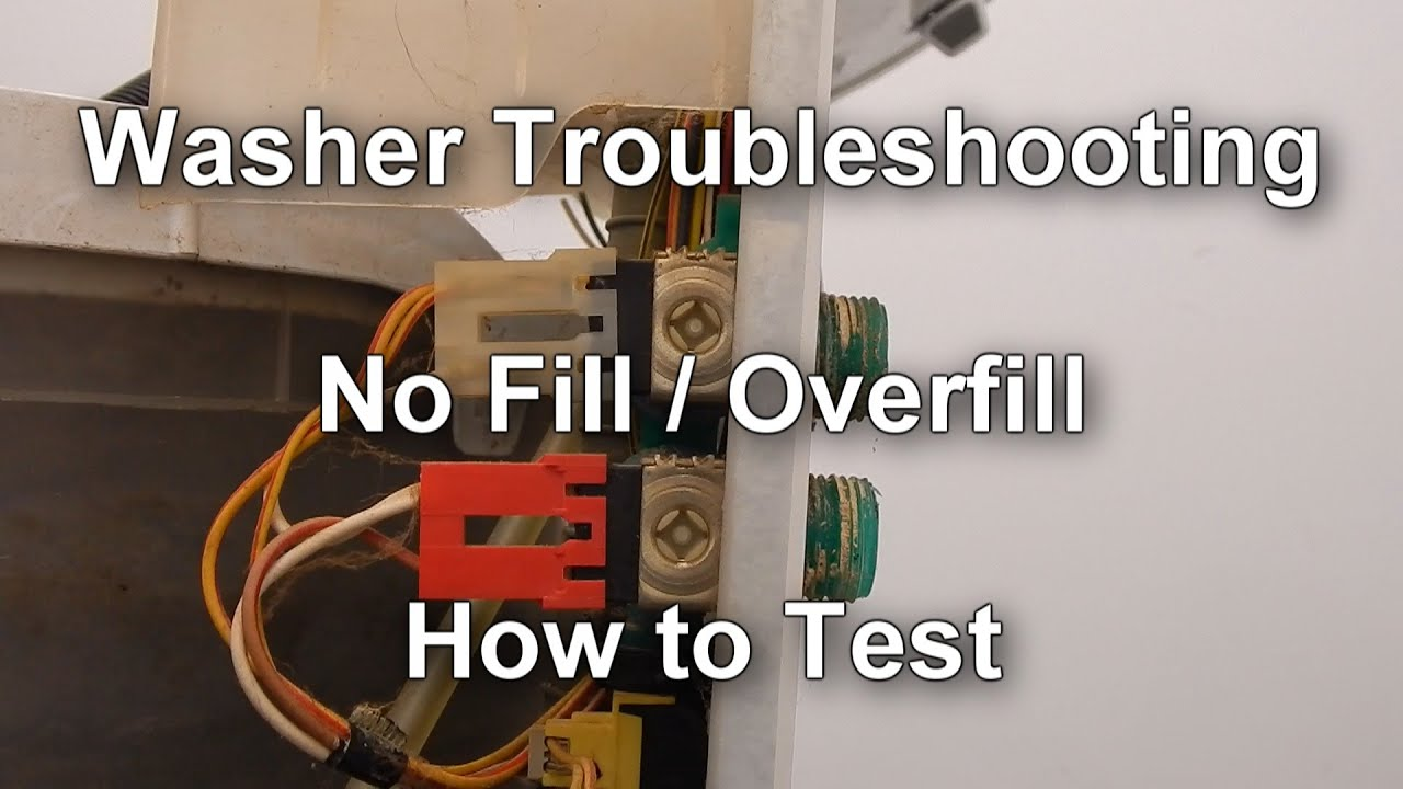 How To Test The Water Valve On Your Washer Not Filling