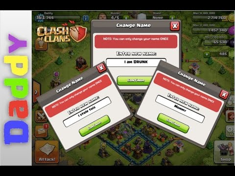 Clash Of Clans  | NAME CHANGE how it works + How to FIX it