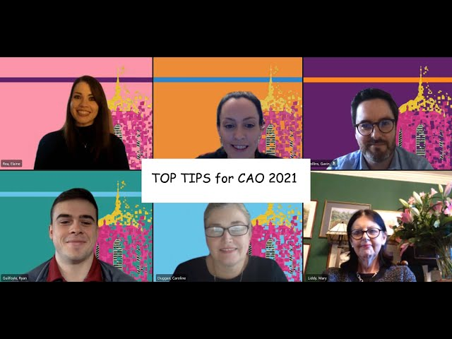 Top Tips for CAO 2021