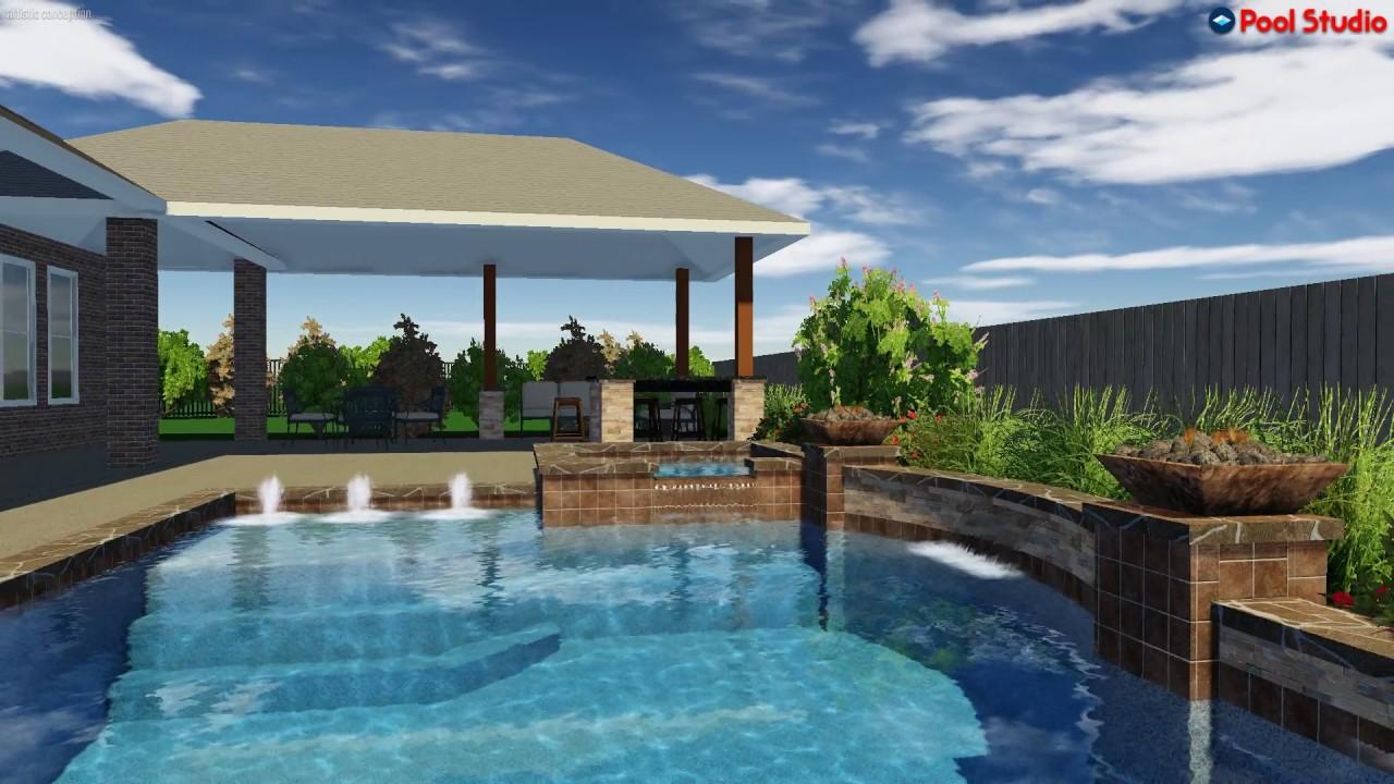 Ocean Blue Pools Swimming Pool Rendering For Kim 5 Youtube