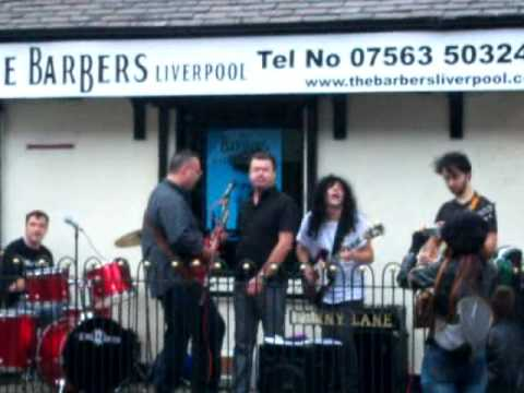 Penny Lane Barber sings with Semolina Pilchards