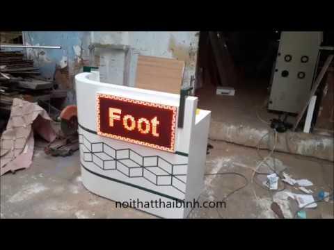 Nhận sản xuất và lắp đèn điện tử quảng cáo lên quầy lễ tân
