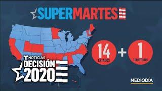 Supermartes 2020: Catorce estados y un territorio participan, poniendo en juego 1,344 delegados