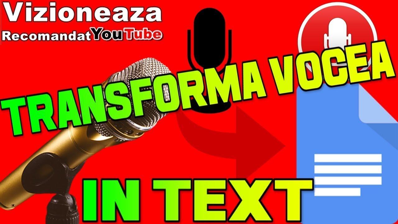 Aplicatia Care Scrie Ce II Spui/Ce Vorbesti/Tasteaza Mai Repede Ca Tine /Text To Speech