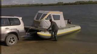 видео Катамаран для рыбалки надувной