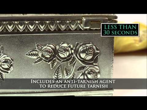 How To Clean Intricate Tarnished Silver in less than 30 seconds!