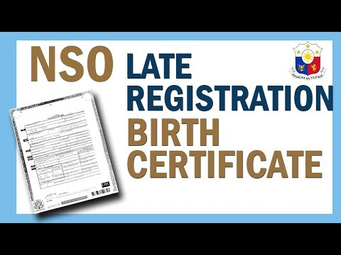 PAANO ANG PROCESO SA NSO LATE REGISTRATION OF LIVE BIRTH