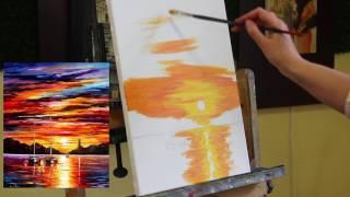 Уроки рисования маслом - рисование пейзажа маслом закат | Артакадемия