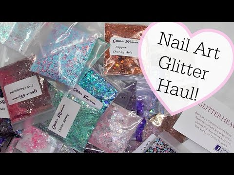 Nail Art Glitter Haul & Demo Of How To Apply On Gel Nails!