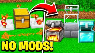 How to TURN ANY BLOCK into a SECRET CHEST in Minecraft! (NO MODS!)