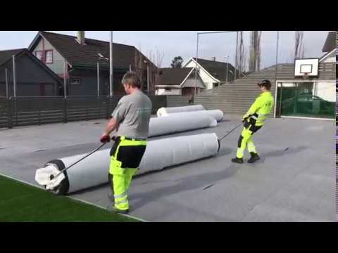 Moving A Roll Of Artificial Grass With Henko Pull Bars