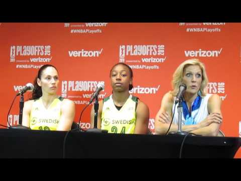 Backdoor Cut: Seattle Storm Sue Bird, Jewell Loyd and Jenny Boucek presser 9.21.16