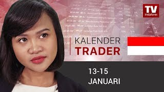InstaForex tv news: Kalendar pedagang  13 – 15 Januari: USD diperkirakan terus menguat