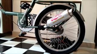 escapamento para bicicleta bicicleta com escapamento turbo spoke exaust system