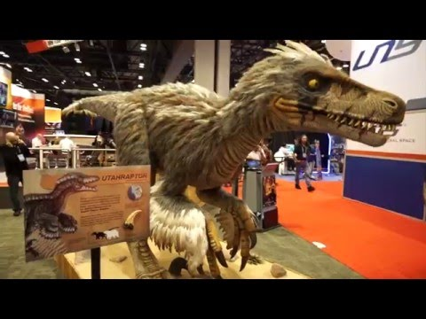 Feathered Raptor Dinosaur Animatronic at IAAPA 2015
