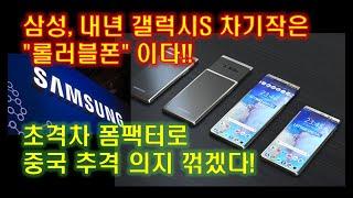 삼성, 내년 출시할 갤럭시S11은 롤러블폰으로 중국 추격 따돌린다!