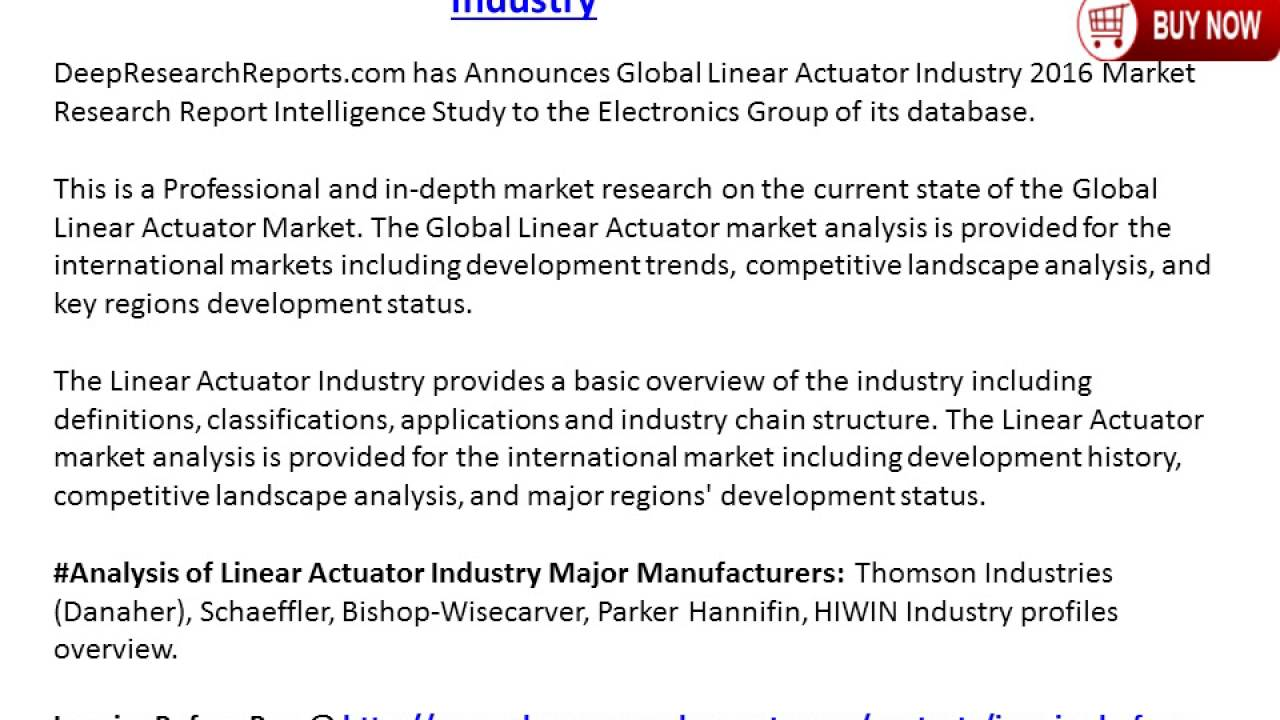 2016 2021 global linear actuator industry trends survey and 2016 2021 global linear actuator industry trends survey and prospects report dailygadgetfo Images