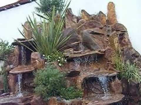 Cascadas con piedra natural youtube for Cascadas de piedra para jardin