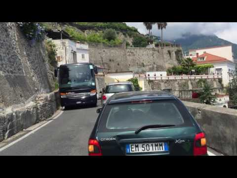 Having fun - driving at Amalfi Coast