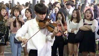 미친 바이올린 연주 - 가능동 하울의 움직이는 성 버스킹 라이브