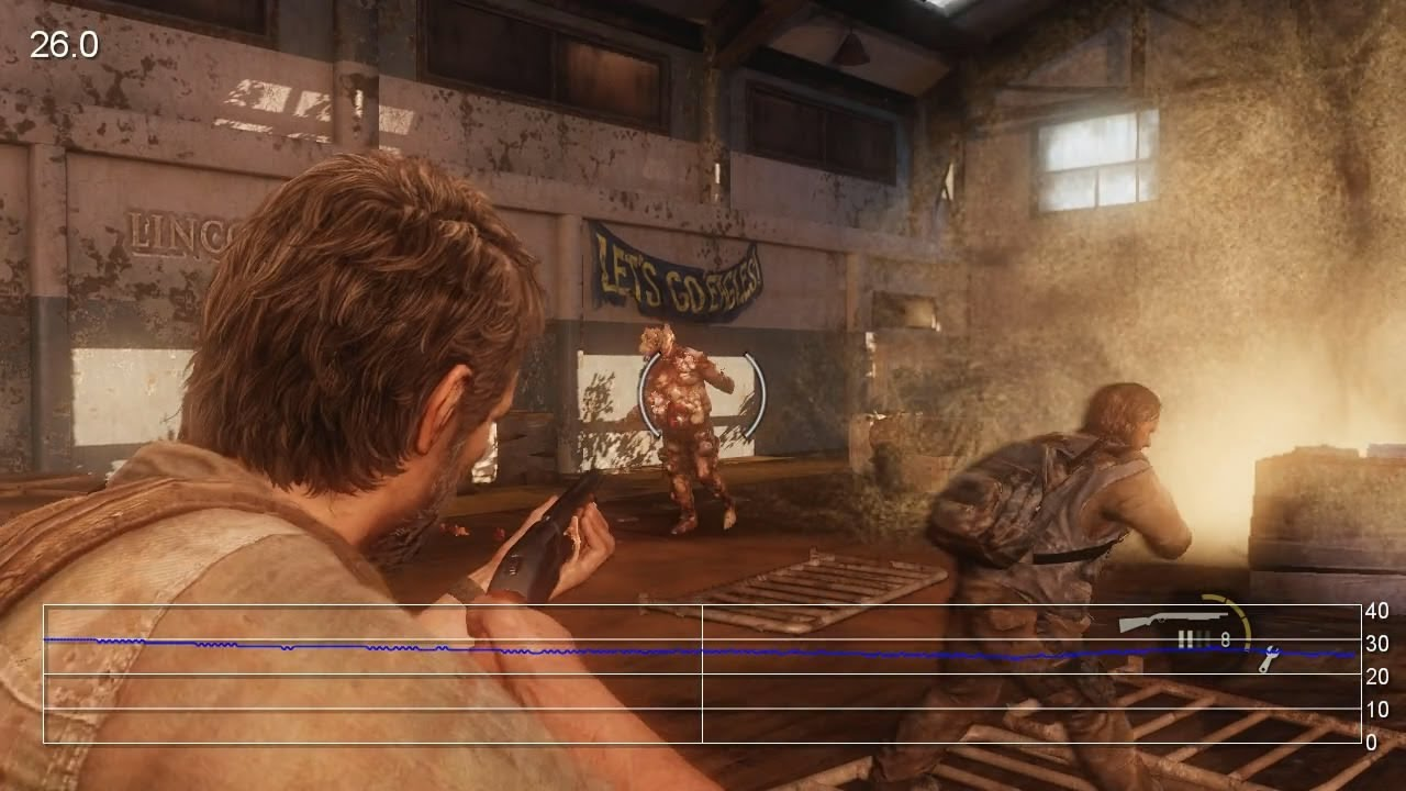 The Last Of Us Combat Action Frame Rate Tests Youtube