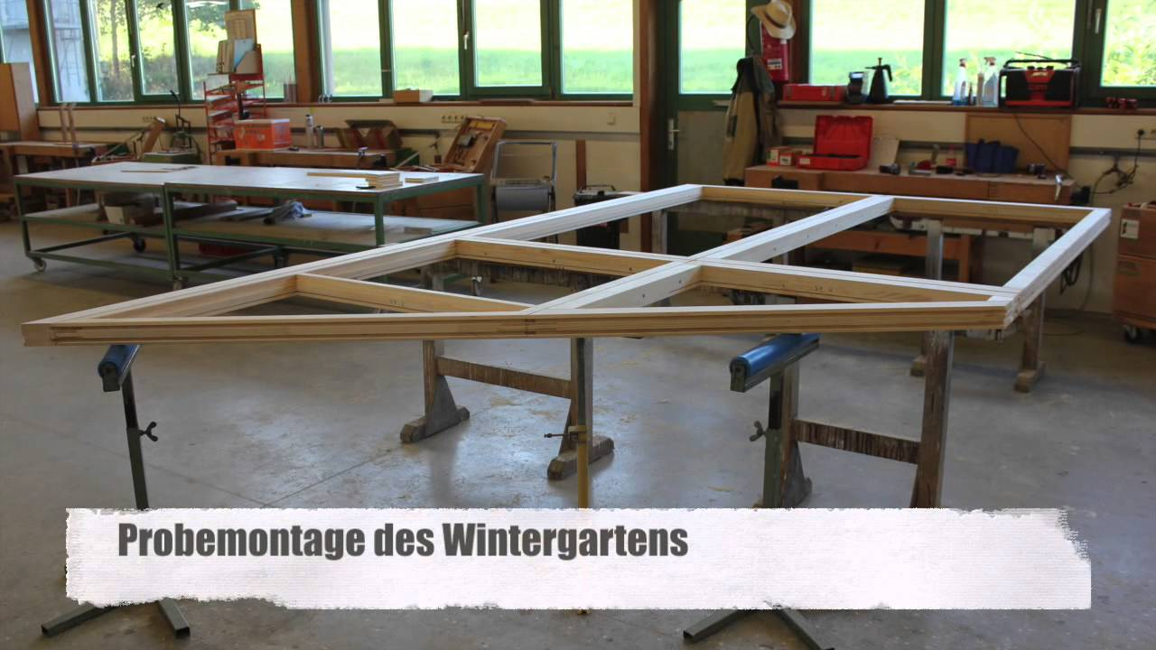 Wintergarten Aus Holz Selber Bauen ein wintergarten entsteht