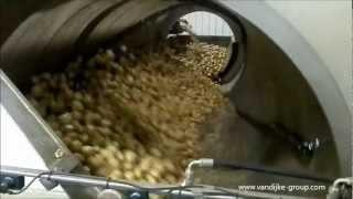 Destoning and washing potatoes drumwasher mud-separator