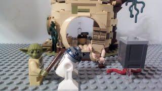 Лего фильм Звёздные войны Йода учит Люка Скайуокера