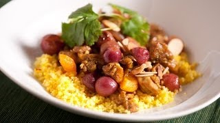 Chicken Tagine With Roasted Grapes And Saffron Couscous