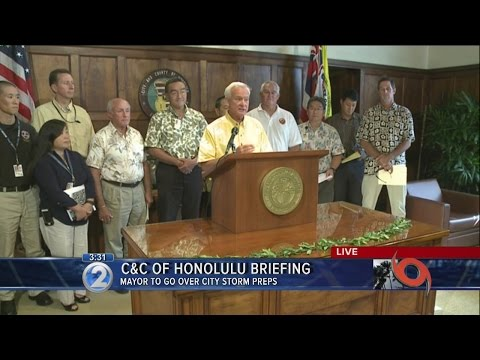 3:30pm briefing by City and County of Honolulu ahead of Ana