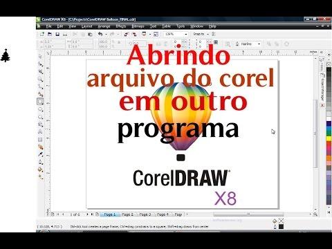 como abrir arquivo do corel CDR em outro programa - YouTube