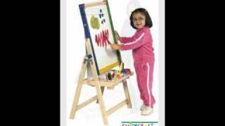 Guidecraft 4 In 1 Flipping Floor Easel