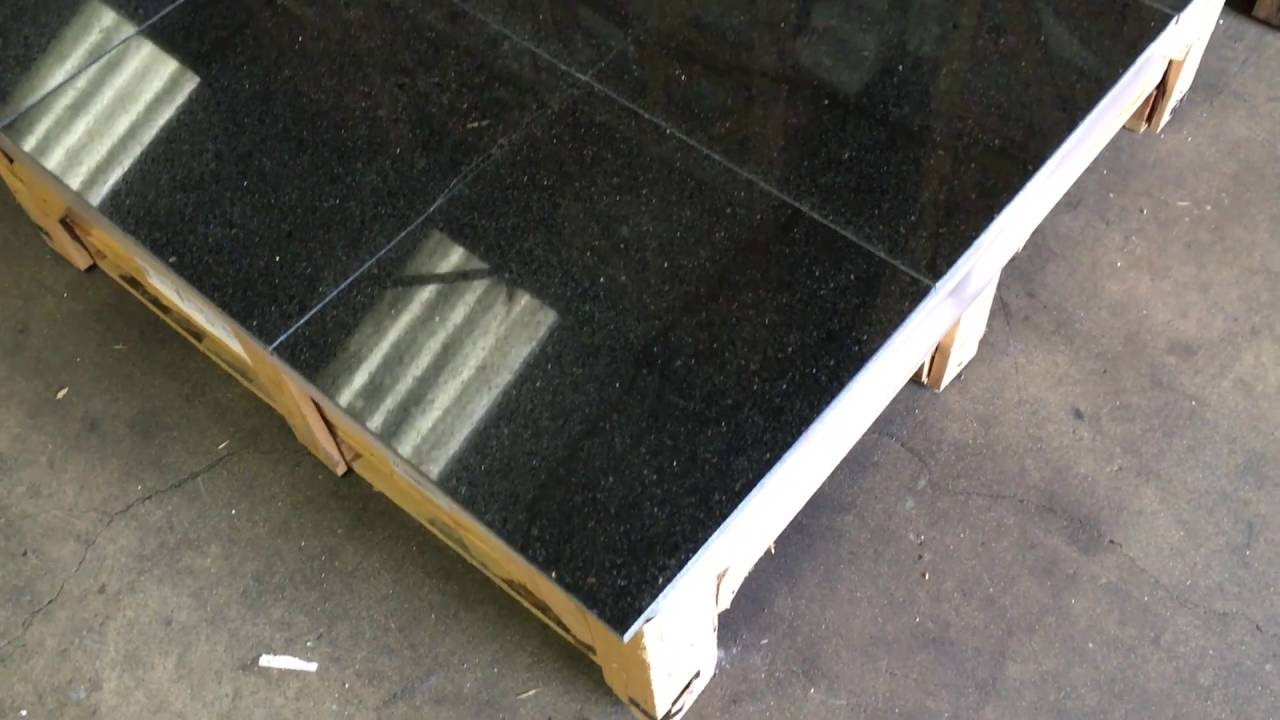 Galaxy Black Granite Tiles 12x12 Youtube