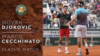 RG Classics - Novak Djokovic vs Marco Cecchinato - 2018 | Roland Garros