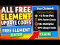 ALL NEW *FREE ELEMENT UPDATE* CODES in NINJA LEGENDS ROBLOX (UPDATE CODES)