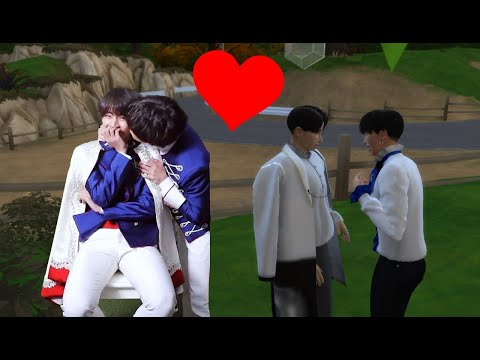Recreating Taekook (BTS) Princely Kiss On Sims 4 (gone Too Far)  😉💜