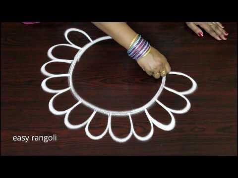 latest creative arts rangoli designs || easy and simple kolam without dots || new muggulu patterns thumbnail