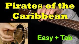 PIRATES OF THE CARIBBEAN: Easy Guitar Lesson + TAB by Guitarnick