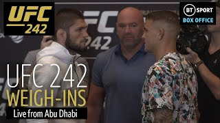 UFC 242 weigh-ins | Khabib, Poirier, Barboza, and Felder hit the scales and face off!