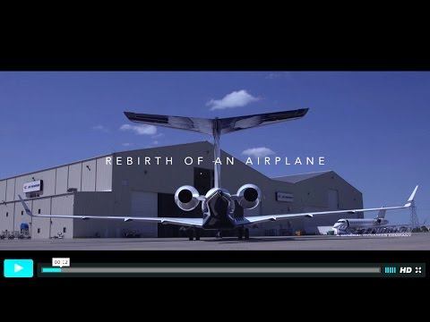 Rebirth of an Airplane- Timelapse of a Global 120 month Inspection