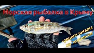 Морская рыбалка в Крыму Особый рецепт шкары из ставридки по шусовски