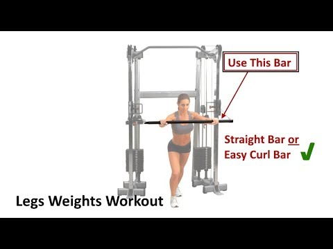 LEGS WORKOUT - Cable Pulley Bar & Dumbbells Workout