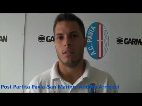 Intervista Andrea Arrigoni post partita Pavia-San Marino